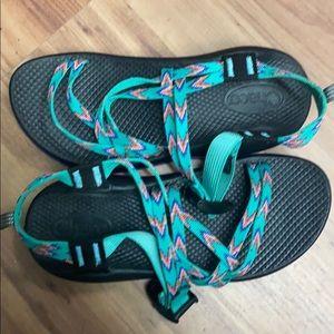 J180090 Chaco Kids ZX1 Ecotread Sandals Mint Leaf